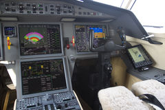 Business jet cockpit Royalty Free Stock Photography