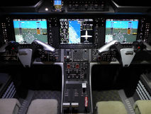 BUSINESS JET COCKPIT Stock Images