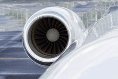 Business JET engine Stock Image