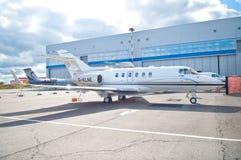 Business Jet Hawker 900XP Stock Photo