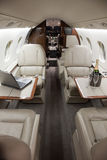 Business Jet Interior Stock Images