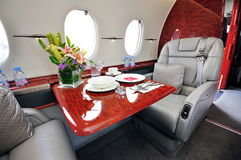 Business jet interior Stock Photography