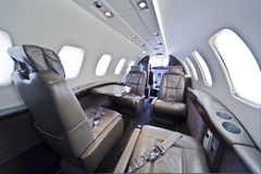Business jet interior Stock Photos