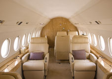 Business jet interior royalty free stock image