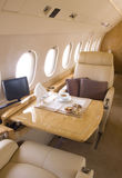 Business jet interior royalty free stock photo