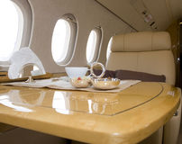 Business jet interior Stock Image