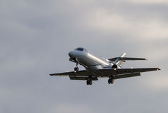 Business jet is landing Stock Photography