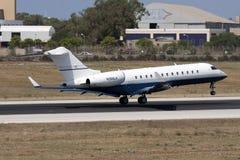 Business Jet landing Royalty Free Stock Image
