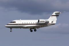 Business Jet landing Stock Photos