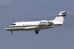 Business Jet landing Royalty Free Stock Photo