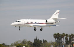 Business jet landing Royalty Free Stock Photography