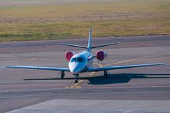 Business jet.  Plane stay in airport Stock Photo
