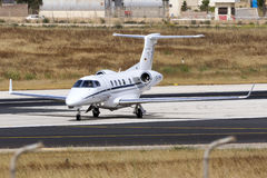 Business Jet preparing for take off Stock Image