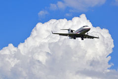 Business jet in the sky Stock Photo