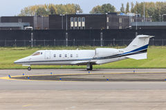Business jet taxiing Royalty Free Stock Photo