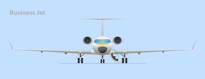 Business jet. Vector illustration. EPS10. Opacity stock illustration