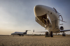 Business jets Stock Photography