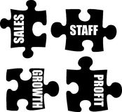 Business jigsaw. An illustration of a business metaphor showing puzzle pieces Royalty Free Stock Photos