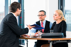 Business - Job Interview with candidate and HR Royalty Free Stock Images