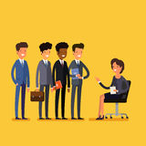 Business job interview concept. Stock Image