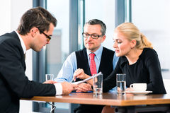 Business - Job Interview and contract signing Stock Photo