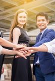 Business join hand success for dealing,Team work to achieve goals,Hand coordination. Business join hands success for dealing,Team work to achieve goals,Hand stock image