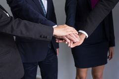 Business join hands success for dealing,Team work to achieve goals,Hand partnership coordination. Business join hands success for dealing,Team work to achieve stock image