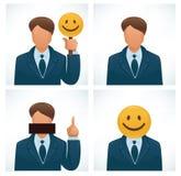 Business joke. Business avatars, set of humor avatars Royalty Free Stock Photo