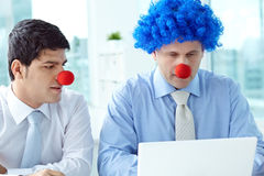 Business jokers in office Royalty Free Stock Photos