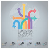 Business Journey With Global Airline Infographic Diagram Royalty Free Stock Photography