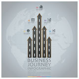 Business Journey With Global Road And Street Arrow Infographic D Stock Images