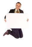 Business jump Stock Image