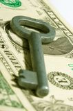 Business key. Money, dollars, security royalty free stock photography
