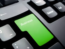 Business Keyboard. Keyboard for business, leaders and ecology Stock Image