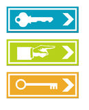 Business keys signs Royalty Free Stock Image