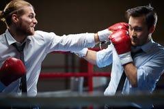 Business kick-boxers Royalty Free Stock Image