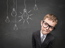 Business kid having an idea Stock Image