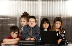 Business Kids Stock Image