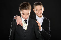 Business kids. Royalty Free Stock Image