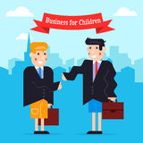 Business kids Royalty Free Stock Photo