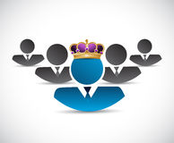 Business king illustration design Stock Photos