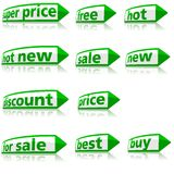 Business Labels Royalty Free Stock Photo