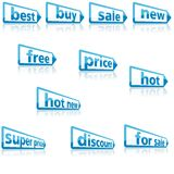 Business Labels Stock Photo