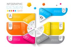 Business labels infographic on two layers circles bar. Business labels infographic on two layers circles bar, with vector graphic art royalty free illustration