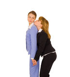 Business ladies romantically involved Stock Images