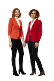 Business ladies on white Stock Image