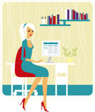 Business lady. Beautiful business lady at work Stock Images