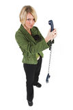 Business Lady #13. Blond Business woman with telephone royalty free stock photography