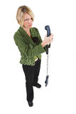 Business Lady #16. Blond Business woman with telephone stock photo