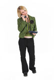 Business Lady #4. Blonde Business woman on the phone royalty free stock image